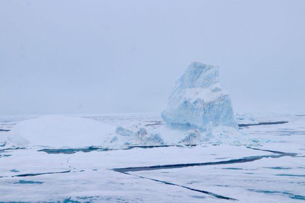Driftender Eisberg